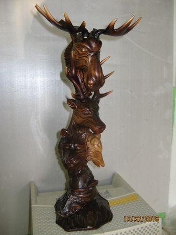 Статуэтка Украинская 5-ка зверей. Охотничий сувенир