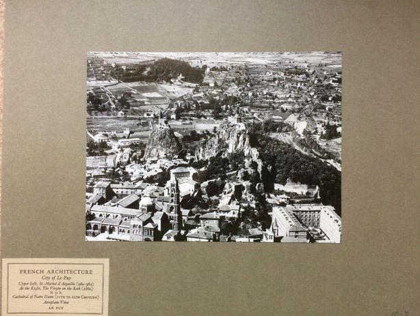 ANTYK Fotografia LE PUY FRANCJA z lotu ptaka Lata 20. XX w. Oryginał