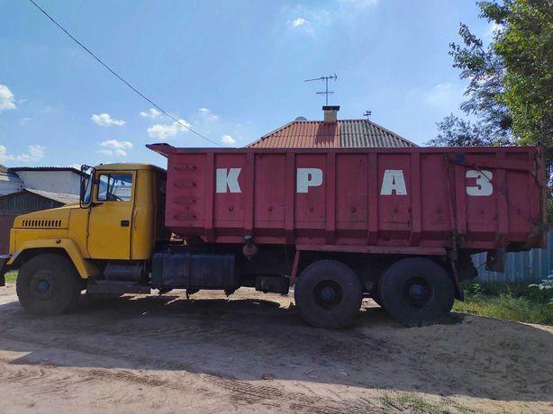 Вывоз мусора КРАЗ 20-30 куб, кузов 6 м с бортами 2 м. СВОЙ Погрузчик.!