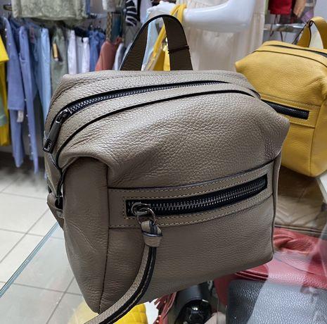 Кожаный рюкзак Рюкзак из натуральной кожи Италия шкіряний рюкзак
