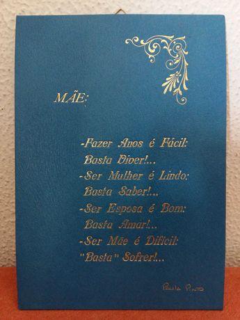 """Poema Ilustrado """"Mãe"""" - (Edições 1954/1979)"""