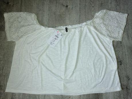 Biała bluzka nowa z metką Sinsay rozm. XL