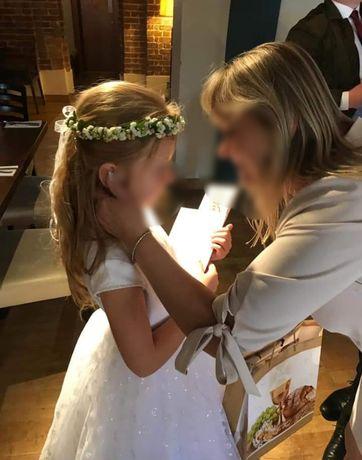 Sukienka komunijna komunia stan idealny biała suknia