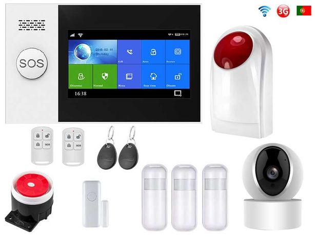 Alarme Loja sem Fios + Camera+Sirene Wifi/3G/GSM Android/iOS PT (NOVO)