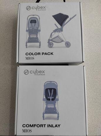 Daszek i wkładka do wózka CYBEX MIOS w kolorze szarym