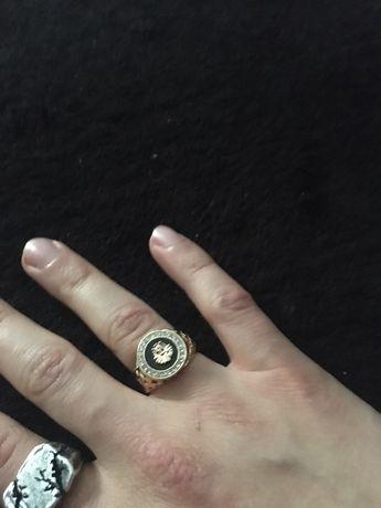 Złoty sygnet meski 750 Lew