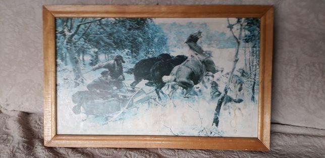 Obraz Napad Wilków Alfred Wierusz Kowalski