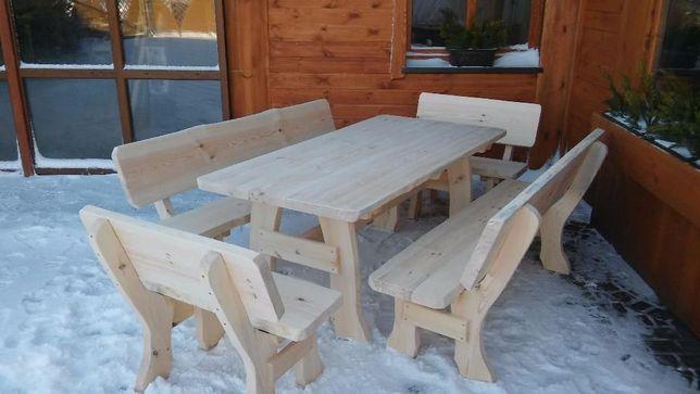 Meble ogrodowe barowe drewniane z drewna litego.TRANSPORT 150 ZŁ