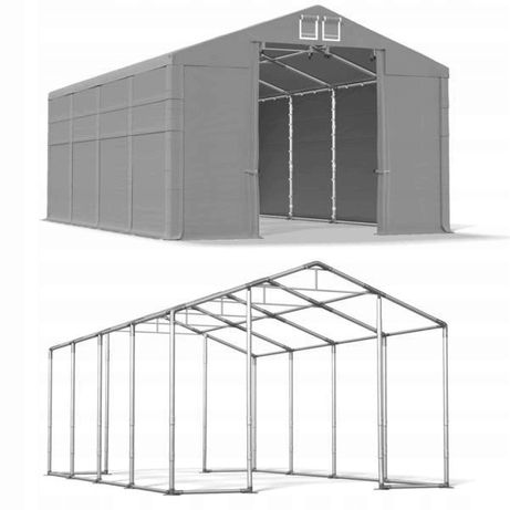 Namiot magazynowy WINTER 5x8m 3,91m WYSOKI wojskowy Hala namiotowa MTB