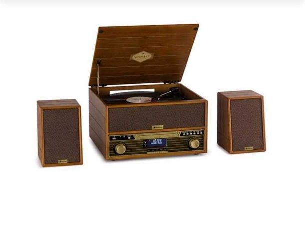 Gramofon cd, mp3 Belle Epoque 1910 Retro stereo