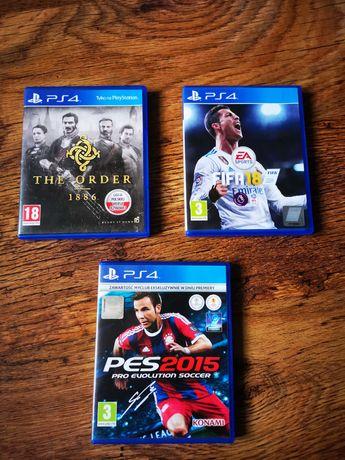 Gry na PlayStation 4. The Order, Fifa18, PES15