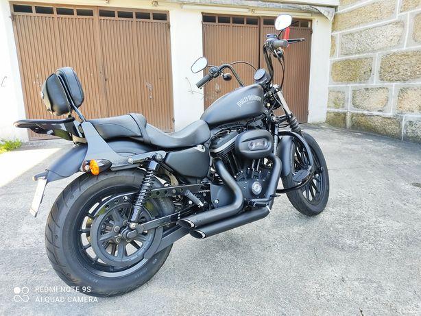 Harley Davidson Sportster iron 883 XL com escape de origem às parte