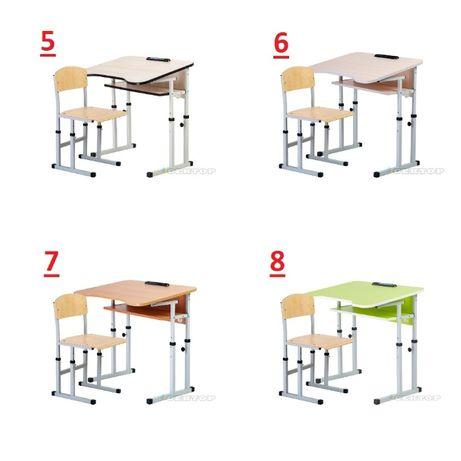 Бесп.дост. комплект с наклоном детская парта+стул школьная дитяча НУШ