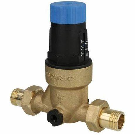 """Reduktor ciśnienia wody 1/2"""" z półśrubunkami"""