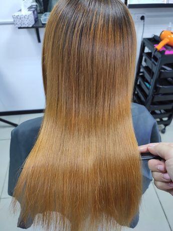 Кератиновое выпрямление и реконструкция волос ботоксом