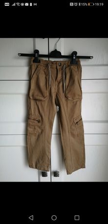 Nowe (bez metek) spodnie cargo Kiabi, rozmiar 98-107cm