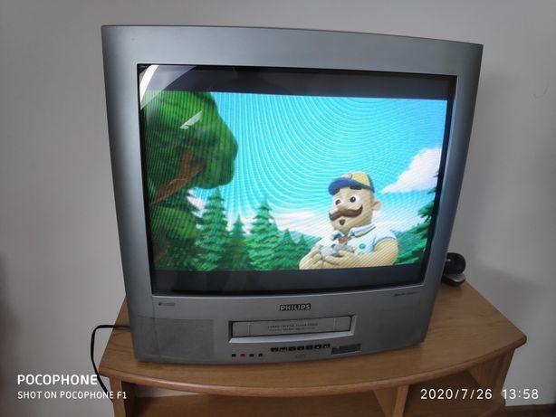 Telewizor Philips 21 cali z video i pilotem