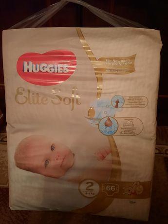 Huggies. Подгузники Huggies Elite Soft 2 (4-6кг)66 шт.