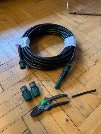 PARSIDE wąż ogrodowy + zestaw złączek + sekator