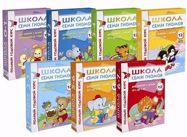 Школа Семи Гномов: 92 тетради 0-7 лет PDF