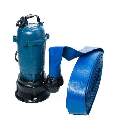 Pompa do wody brudnej szamba z rozdrabniaczem + wąż 50m