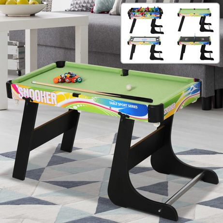 Mesa 4 em 1 - bilhar, matrecos, hoquei e ping-pong para crianças