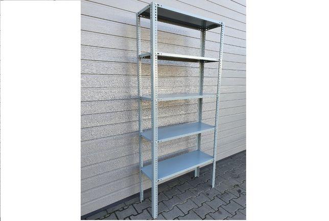 Regał metalowy z półkami 198x91,5x31 cm lakierowany nowy 150 kg mocny