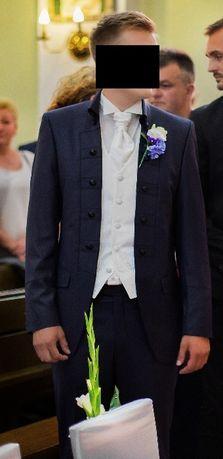 Oryginalny garnitur ślubny, stan idealny + gratisy
