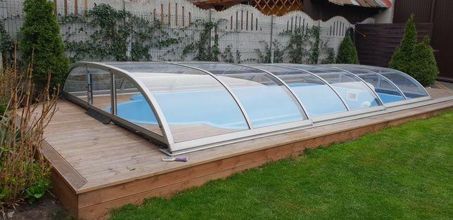 Basen ogrodowy poliestrowy 5,2x2,5x1,1 z osprzętem możliwy montaż