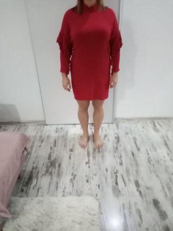 Czerwona sukienka l 42 hm elegancka sylwestrowa