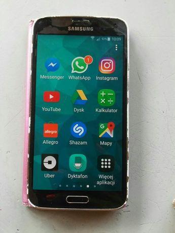 Telefon Samsung Galaxy S5 oryginalny wywietlacz z rysą 100% SPRAWNY