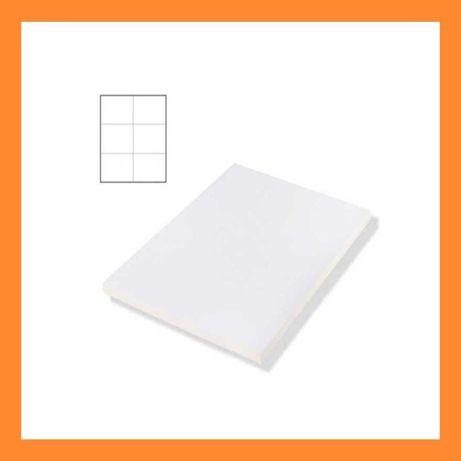 Наклейка А4 для маркировки 105*99 6шт на листе бумаги