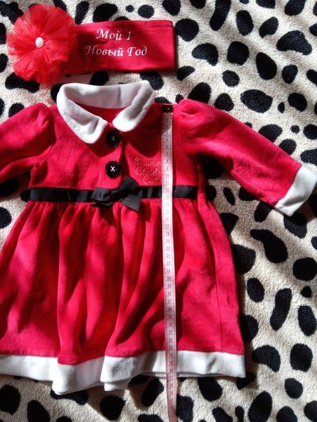 Новогоднее платье на малышку.