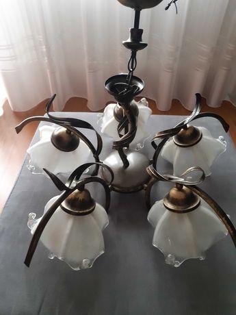 Żyrandol, lampa sufitowa do salonu + kinkiet