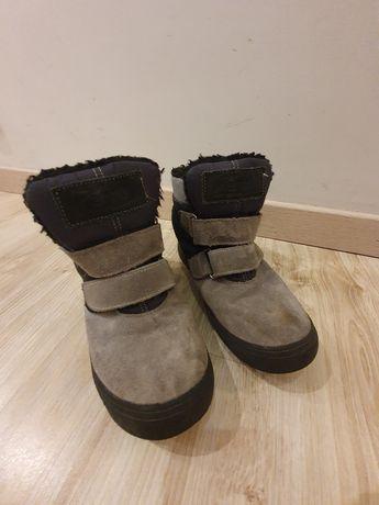Buty ocieplane zamszowe