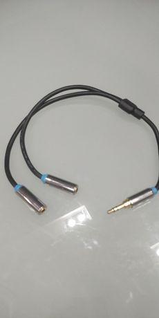 аудио кабел переходник aux 2 output 1 input ventiqb