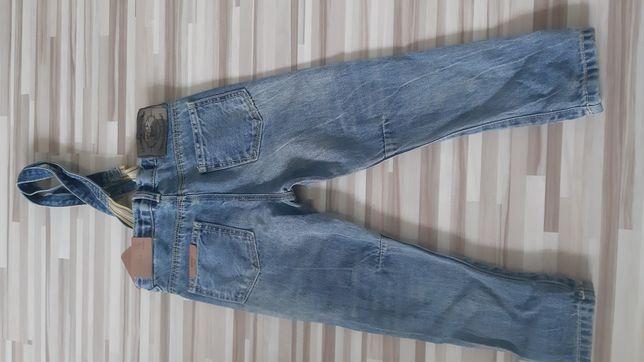Spodnie z szelkami ZARA 104 nowe