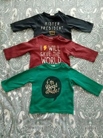 Camisetas manga longa bebé 3 a 6 meses