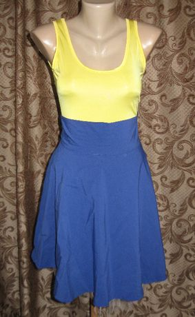 платье майка и юбка летнее жёлто голубая жовто блакитна сукня
