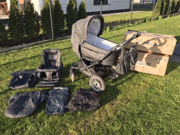 Wózek Emmaljunga Edge Duo Combi S głęboki spacerówka idealny stan