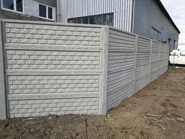 Ogrodzenia betonowe Panele siatkowe, Podmurówka , Słupki
