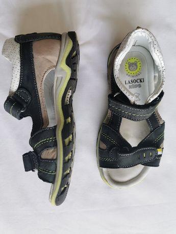 Sandały Skórzane Lasocki r 26 wkł 16,3 cm