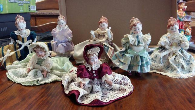 Colecção de damas antigas em porcelana