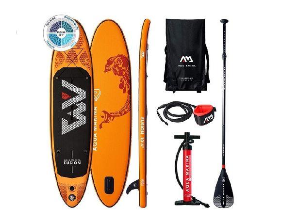 Акция Доска для гребли 10,4 AM AQUA MARINA Fusion для серфинга стоя