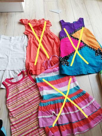 Sukienki dziewczęce rozm.116-122
