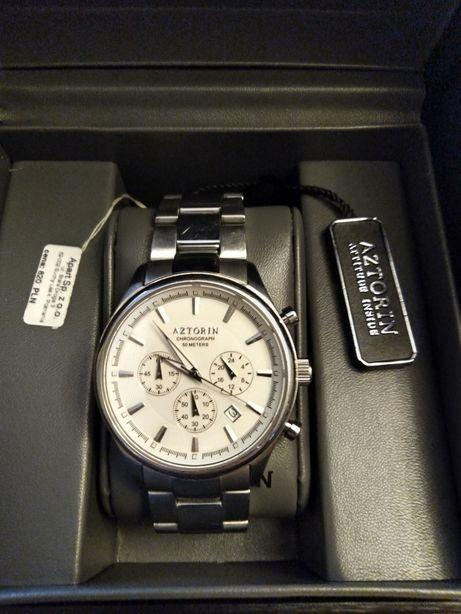 Zegarek aztorin srebrny bransoleta srebrna