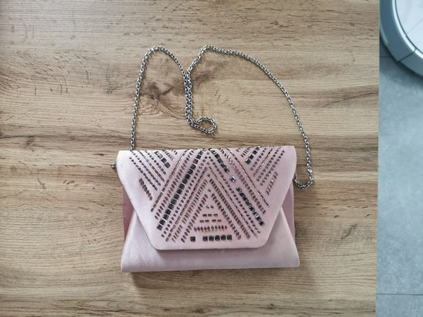 Torebka new look kopertówka różowa