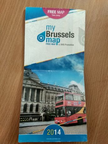 Туристична карта Брюселя туристическая карта Брюсель Brussels map