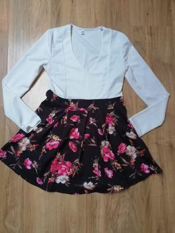 Piękna sukienka kwiaty S (M)