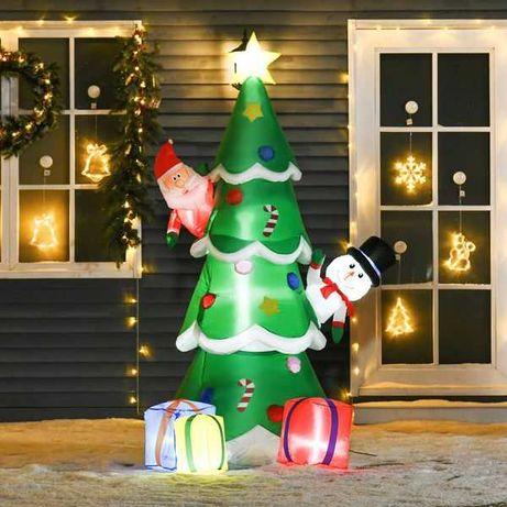 Árvore de Natal Inflável 180cm com Luzes LED Exterior 115x105x180cm